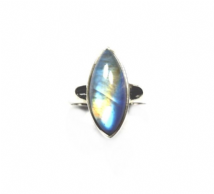 Marqui Rainbow Moonstone Ring Silver 'One-Off' size Q 1/2